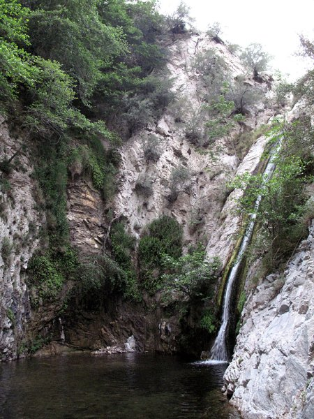 Switzer Canyon Falls in La Canada